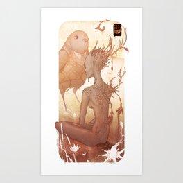 Fairy and Bird Art Print