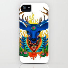 Third Eye Huichol Deer iPhone Case