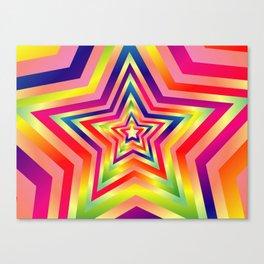 Star Colorful Rainbow Spectrums Canvas Print