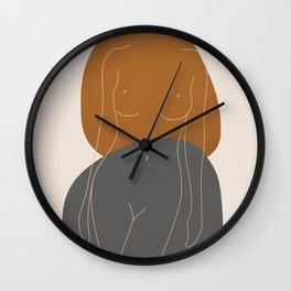 Line Female Figure 81 Wall Clock