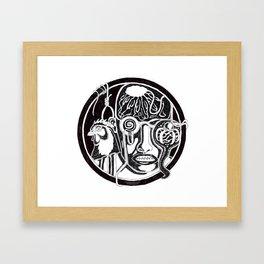 Character: F Framed Art Print