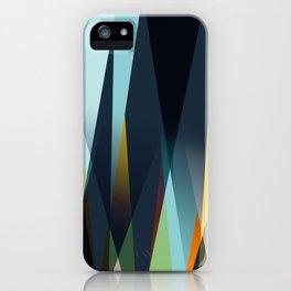 mid century geometry iPhone Case