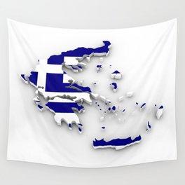 GREECE LOVE Wall Tapestry