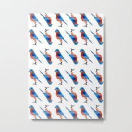 Bluebird i Metal Print