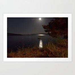 Moonshine relax Art Print