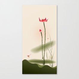 Oriental Lotus 002 Canvas Print