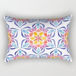 Snowflake - Blue and Yellow Rectangular Pillow