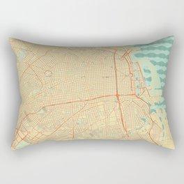 Buenos Aires Map Retro Rectangular Pillow