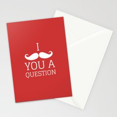 I Mustache You a Question Stationery Cards