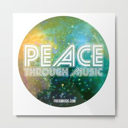 Peace Through Music Metal Print