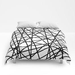 Lazer Dance Black on White Comforters