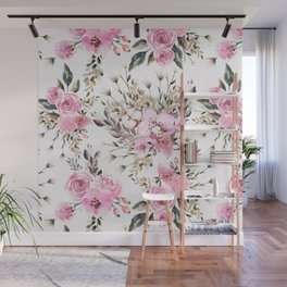 Roses Orchids and Wild Flowers Wall Mural