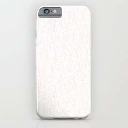 Elios Shirt Faces in Pale Pink Outlines on White CMBYN iPhone Case