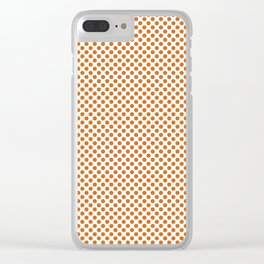 Autumn Maple Polka Dots Clear iPhone Case