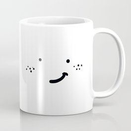 HAPPY FRECKLED HATLESS FACE Coffee Mug