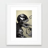 venom Framed Art Prints featuring Venom by Dan Bingham