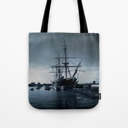 Ship The Warrior HMS 1860 Tote Bag