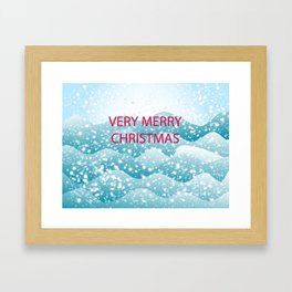Christmas -Greeting card - congratulations on Christmas and New Year Framed Art Print