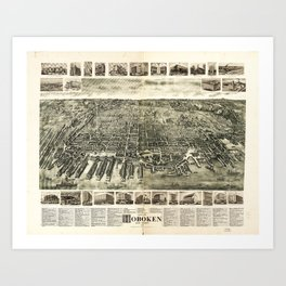City of Hoboken, New Jersey (1904) Art Print