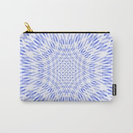 warped bandanna. pale blue Carry-All Pouch
