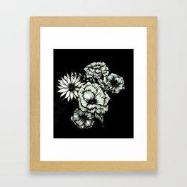 Black Floral Ink III Framed Art Print