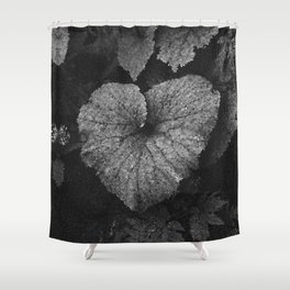 Grey Grey Heart Shower Curtain