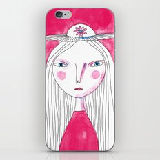 Hat Girl iPhone Skin