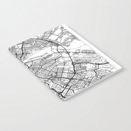 Amsterdam Map White Notebook