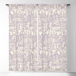 Ancient Greece purple pearl Blackout Curtain