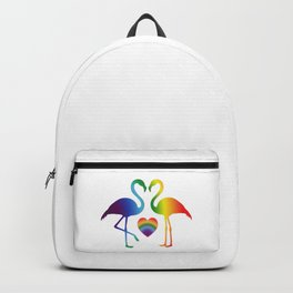 PRIDE FLAMINGO HEART Backpack