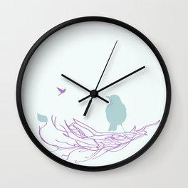 Nest with Bird Wall Clock