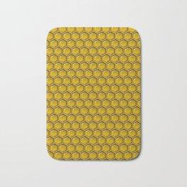 Honeycomb Bee Pattern Bath Mat