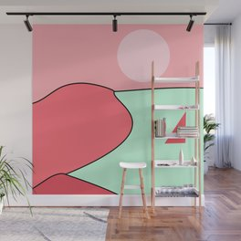 Happy Place - Coral Mint Wall Mural
