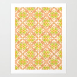 Citrus Kaleidoscope Art Print