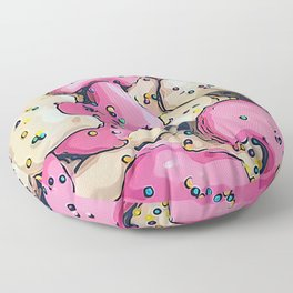 Frosted Animal Cookie Pattern Floor Pillow