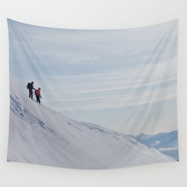 Skiers at Hatcher Pass Wall Tapestry