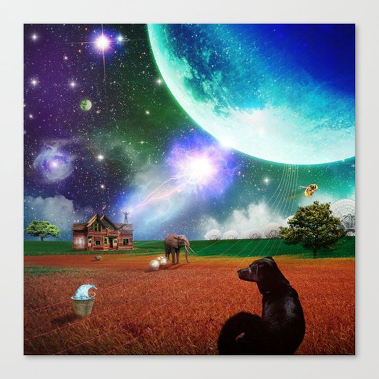A Most Unusual Evening Canvas Print