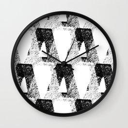 black & white / modern repeat Wall Clock