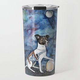 Our hero, Laika Travel Mug