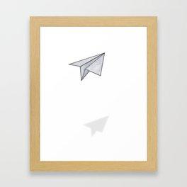 Marbelous plane Framed Art Print