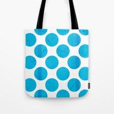 Blue Polka Dot Tote Bag