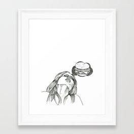 Horny for a Hamburger Framed Art Print