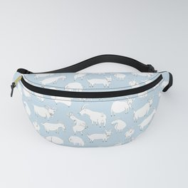 Goats Playing – Blue Fanny Pack