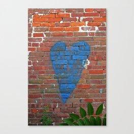 Blue Heart Canvas Print