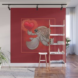 Hermit Crab Love! or Lopsided Claws, Lopsided Heart! Wall Mural