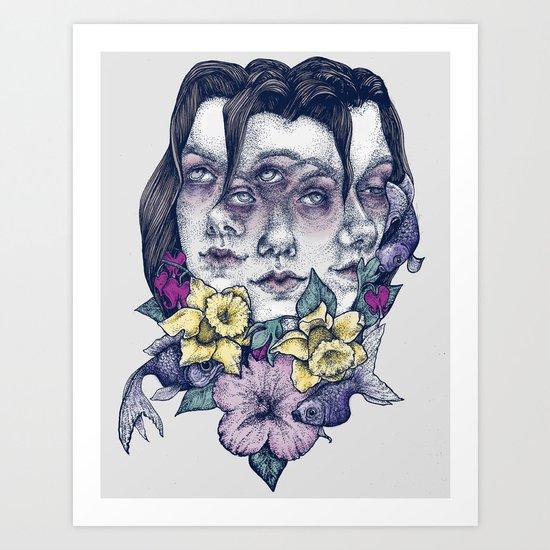 Portrait Grey Art Print