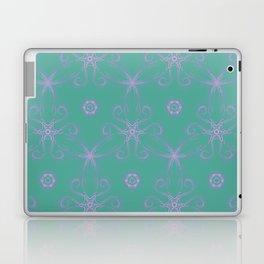 Green garden Swirl Repeating Pattern Laptop & iPad Skin