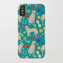 Golden Retriever pet friendly dog breeds dog toys cute dog gifts for dog lovers iPhone Case
