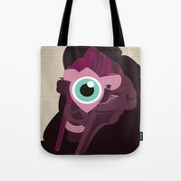 doom Tote Bags featuring DOOM by Jamie Bryan