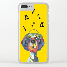Singing The Blues - Dog - Animal Clear iPhone Case